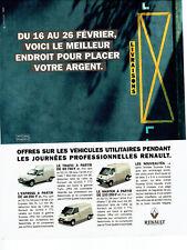 Publicité Advertising 028  1996  véhicules utilitaires Renault  Express Trafic