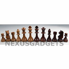 BAP Chess Pieces 3.5 IN KING Classic Set Weighted Wood Wooden Game NO BOARD fs