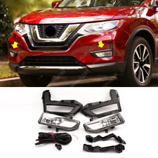 For Nissan Rogue 2017-2020 Halogen Front Fog Light w/ Switch/ Wiring/ Bezel Kit
