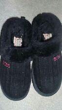 Skechers 13 BLACK Girl's BOBS KEEPSAKES-SWEATER SOFTIES Clog Shoes Slip On Knit