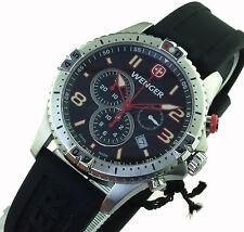 Wenger señores reloj 77055 Squadron Chrono zafiro vidrio nuevo embalaje original PVP 469,99 euros