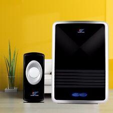 100M US Plug-in Wireless Digital Door Bell LED Indicator Doorbell 25 Music Sound