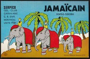 "QSL QSO RADIO CARD "" Serpico/Jamaicain"", Montreal, Quebec, Canada (Q390)"