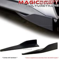 Universal Fit (measure your car) Black Side Skirt Rocker Splitters Winglet Wings