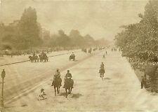 JULES HAUTECOEUR, PARIS, L'avenue du Bois de Boulogne & Original ca 1880s Photo