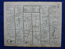 Original antique road map, WILTSHIRE, OXFORDSHIRE, WALES, John Senex, 1757