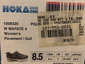 Hoka One One Womens Mafate 4 Trail Running Shoes Gray US SIZE 8.5 New In Box NIB