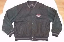 Snap-On Authentic Tools Varsity Style jacket leather sleeves men sz XL black/red