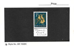 New Zealand 1960 3d Kowhai Chalkey Paper Single MNH