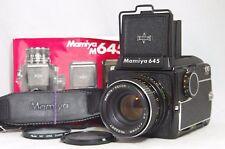 Mamiya M645 Medium Format SLR Film Camera SN J89644 w/Sekor C 70mm F/2.8 E Lens