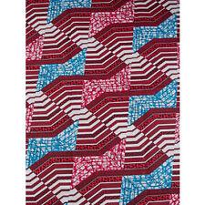 Africa Pattern Strip Print Fabric BY 1/2 YARD Ankara style kitenge fancy wax 931