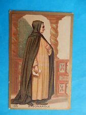 IMAGE PIEUSE  HOLY CARD SANTINO JEROME  SAVONAROLE MARTYR