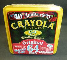 New in Box Crayola Crayons 40th Anniversary Tin Vintage Original 64 Colors