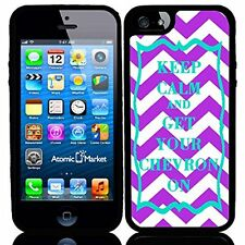 Purple & Turquoise Keep Calm and Get Your Chevron On For Iphone 6 Case Coverr