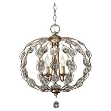 Feiss Leila 3-Light Chandelier in Burnished Silver - F2741-3BUS