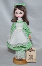 Vintage Bradley Dolls Big Eyes Kelly Elegant Green Plaid Dress Korea #K