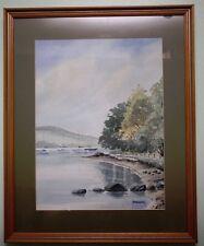 Original Watercolour Painting of STRANGFORD LOUGH by Irish Artist HELEN MLADEK