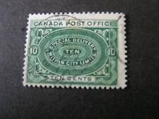 Canada, Scott # E1 ,10c. Value.Blue Green 1898 Special Delivery Issue Used