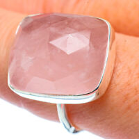 Rose Quartz 925 Sterling Silver Ring Size 8.25 Ana Co Jewelry R37811F