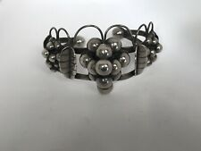 Silver Cuff Bracelet Quinto Taxco Grapes Sterling