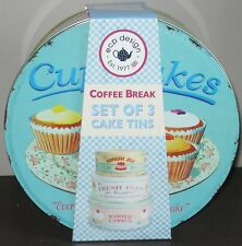 Martin Wiscombe Retro Vintage Cake Tins Set of 3