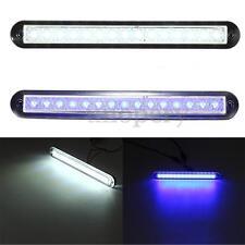 Universal Boat Caravan 12V 15 LEDs Interior Exterior Rail Strip Light White/Blue