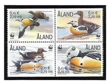 ALAND ISL SC 185e NH issue of 2001 - WWF - BIRDS - DUCKS