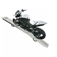 Bike Ramp Steel Motorcycle Van Loading Motorbike Lawn Mower Heavy Duty Single