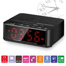 Réveil Bluetooth Haut-parleur Sans Fil Lecteur Carte Micro SD FM Radio Portable