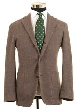 Boglioli Dover ITALY Brown Flannel COTTON WOOL Unstructured Coat Jacket 48 38 R