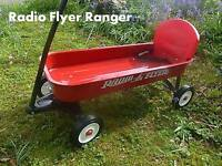 Radio Flyer Ranger wagon pull along trailer trike truck pedal car ride on in
