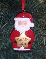Personalised Xmas Snowman Santa / Father Christmas Tree Decoration Any Name!