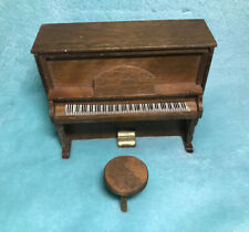 Miniature Dollhouse Piano With Stool 1:12 Scale