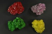 Alunite red green yellow pink crystal on matrix 4pcs Poland free shipping