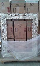SPECCHIERA moderna 84 x 104 legno antitarlo ARGENTO FOGLIA