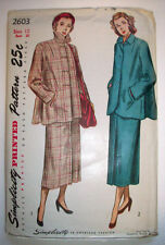 1940's  Womens Maternity suit skirt button front  jacket   pattern 2603 size 12