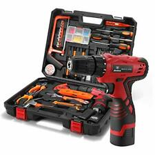 Dedeo Tool Kit with Drill 16.8V Cordless for 60 Accessories Home Cordless Repair