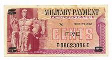 US  MPC Militray Payment Certificate 5 Cents ND.1970 M. 91 Series 692 aUNC Note
