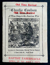 RARE! Revival Book by CIVIL WAR DRUMMER BOY Soldier CHARLIE COULSON