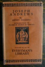 Joseph Andrews by Henry Fielding Everyman's Library 1931 HC w/DJ Reading Copy