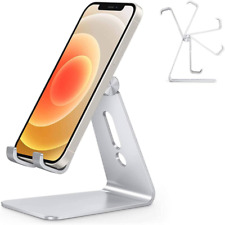 New listing Adjustable Cell Phone Stand Aluminum Desktop Accessories Kit Holder Dock Silver