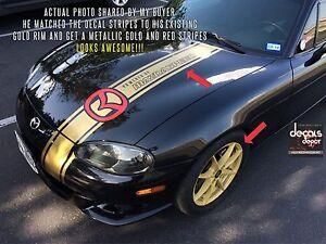 Vinyl Graphics Hood Stripes For Mazda 3, 5, 6 CX5 CX9 CX7 RX7 RX8 Mx-5 Miata
