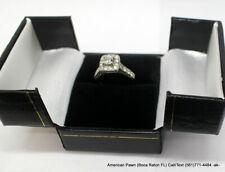 Princess Cut Diamond Halo 14 Karat White Gold Engagement Ring 1.0 carat TDW