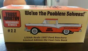 Liberty Classics by Spec Cast Trust Worthy 1957 Ford Ranchero Coin Bank #57001
