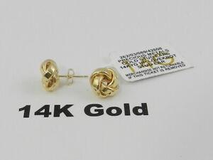 Italian Gold  Love Knot Stud Earrings in 14k Gold
