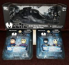 MEZCO Mez-Itz DC LOT  Dark Knight Batman Tumbler Box Set JOKER SUPERMAN RARE NEW