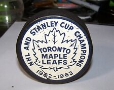 REALLY RARE 1962-63 Toronto Maple Leafs Stanley Cup Champions Puck Very Nice