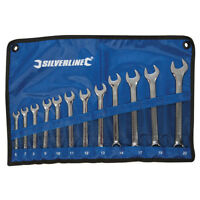 Combination Spanner Set 12pce 6 - 22mm Spanners Wrench Garage Mechanic Hand Tool