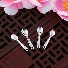 28pcs Antique silver little spoon charm pendants F0095