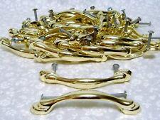 NICE! KEELER Vintage Dresser Drawer Cabinet Handle Polished Modern Brass Pulls